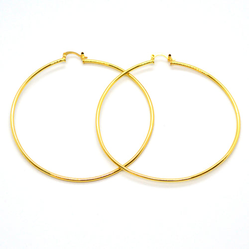 (1-2899-h12) Gold Overlay Classic Hoops, 80 mm.