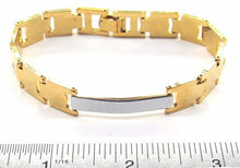 1-0541-A1 Gold Overlay Two Tone ID Bracelet for Women, 7-1/2""