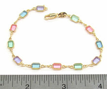 1-0638-A1 gold filled multicolor bracelet