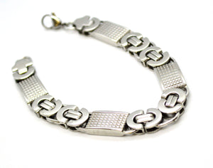 (4-4024-h11) Stainless Steel Alternative Link Bracelet, (3 finishes available).