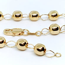 1-0435-g8 Gold Filled Beaded Bracelet.