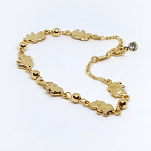 1-0411-g8 Gold Filled Elephant Links Bracelet.