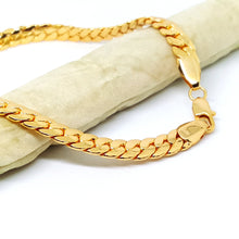 1-0031-h1 Gold Plated Cuban link Anklet. 10-3/4""