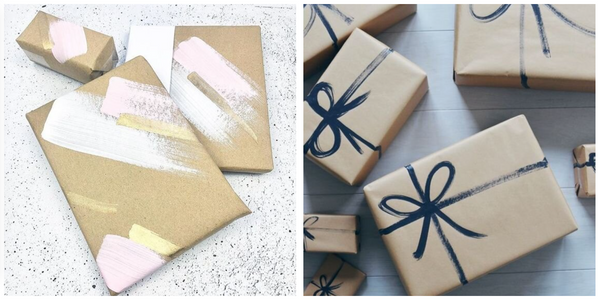 easy painted gift wrap inspiration
