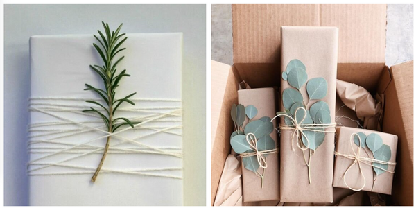 easy gift wrap with flowers