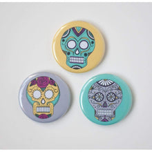 day of the dead magnet set sugar skulls by exit343design