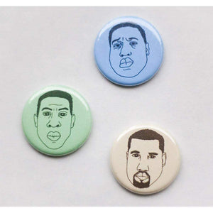 biggy smalls magnet, jay-z magnet, kanye west magnet set