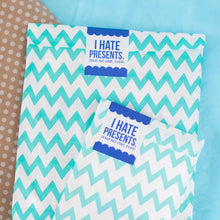 GIFT WRAP UPGRADE: LARGE ITEMS, Light Blue ZigZag