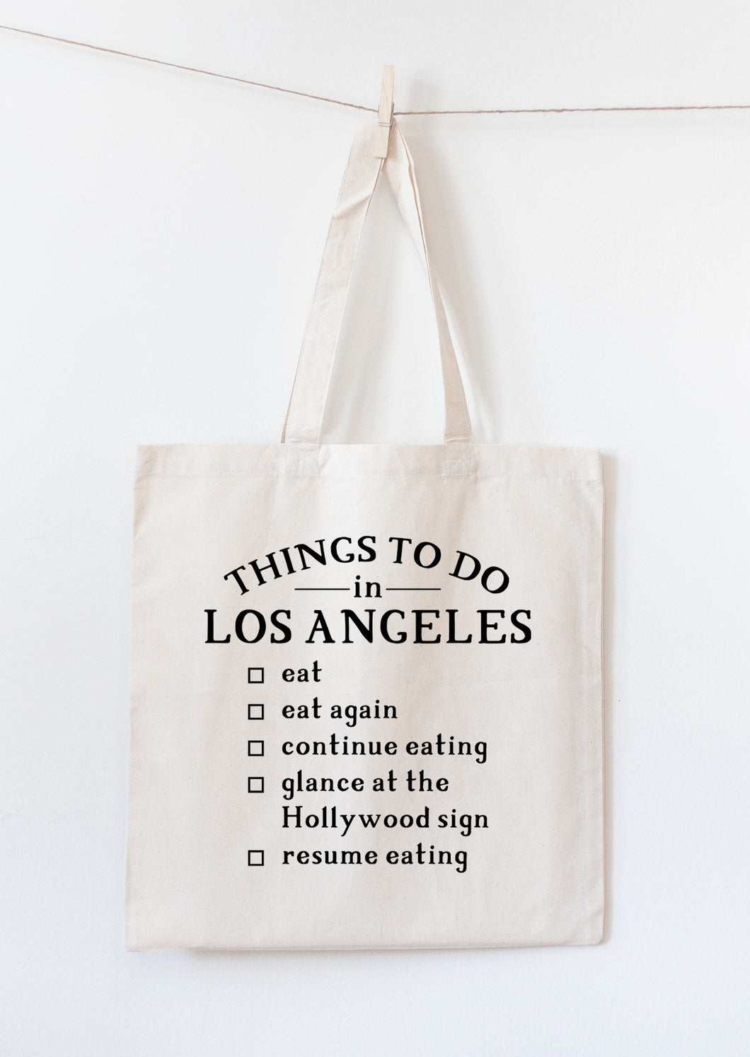 Los Angeles tote bag souvenir