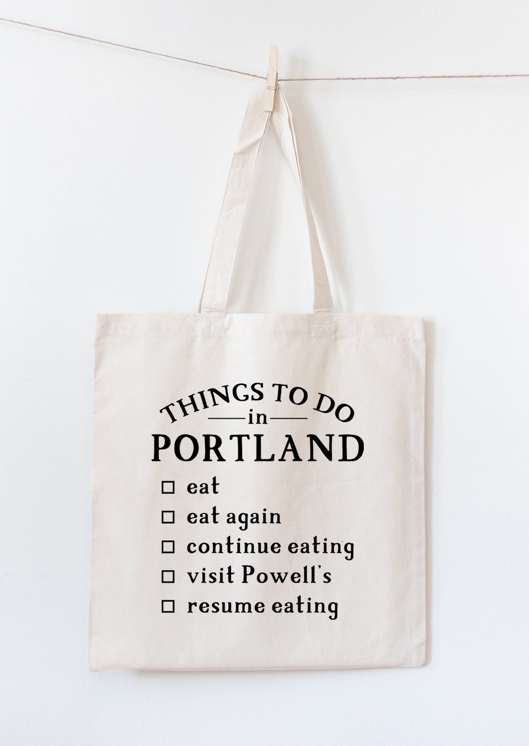 Portland Oregon tote bag souvenir