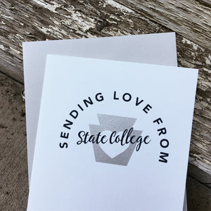 hello from State College greeting card, Pennsylvania greeting card, Happy Valley card by exit343design