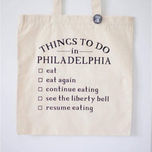 things to do in Philadelphia tote bag by exit343design