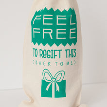 regift funny holiday gift bag for wine gift by exit343design