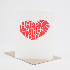 classic father's day card printed in the USA by exit343design