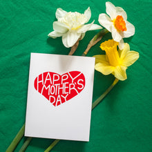 mother's day card with a bold red heart by exit343design