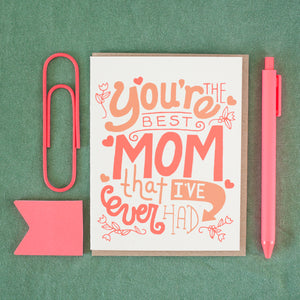 mother's day card with hand-drawn type by exit343design