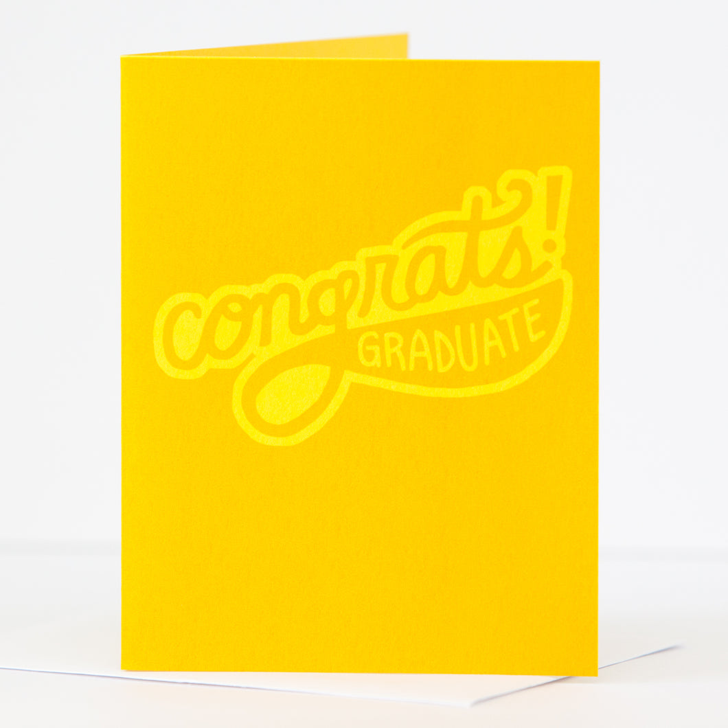 retro inspired graduation card by exit343design