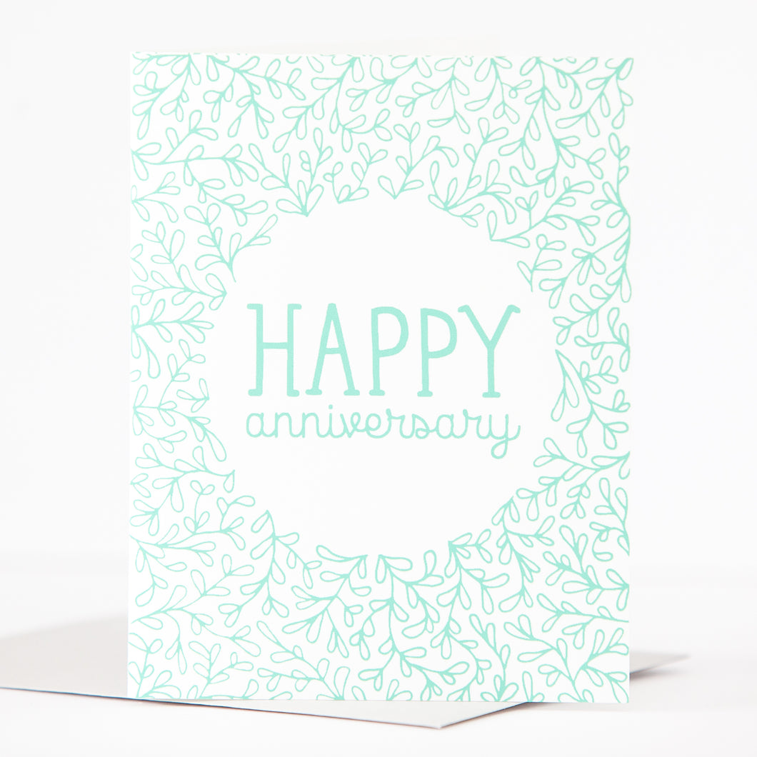 simple happy anniversary card by exit343design