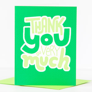 bright green thank you card by exit343design