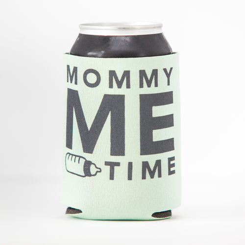mommy me time mint green can coolie by exit343design