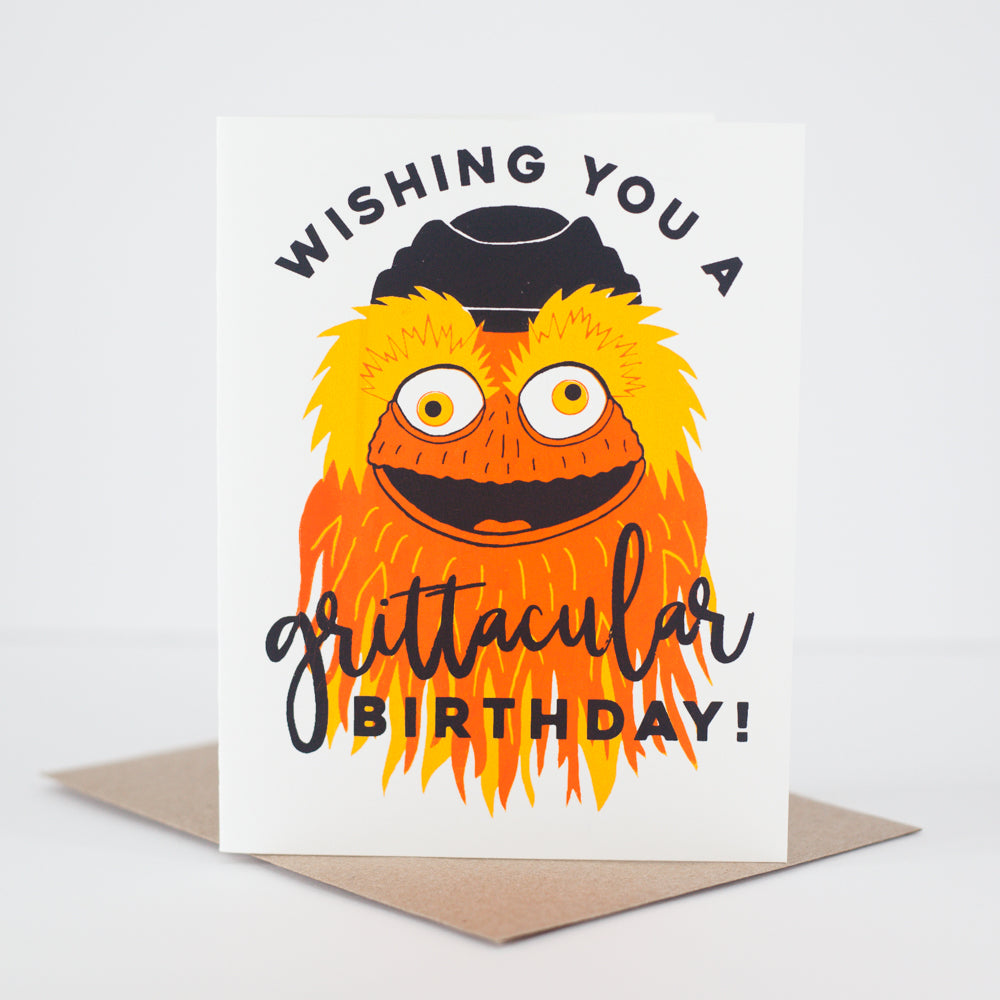 funny Gritty birthday card by exit343design