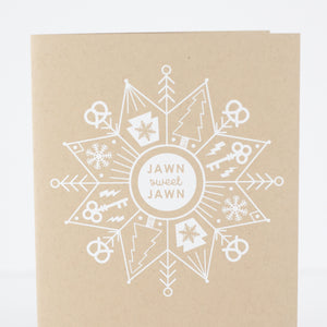 jawn sweet jawn Philadelphia Christmas card with a snowflake by exit343design