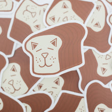cat loaf sticker, vinyl cat sticker exit343design