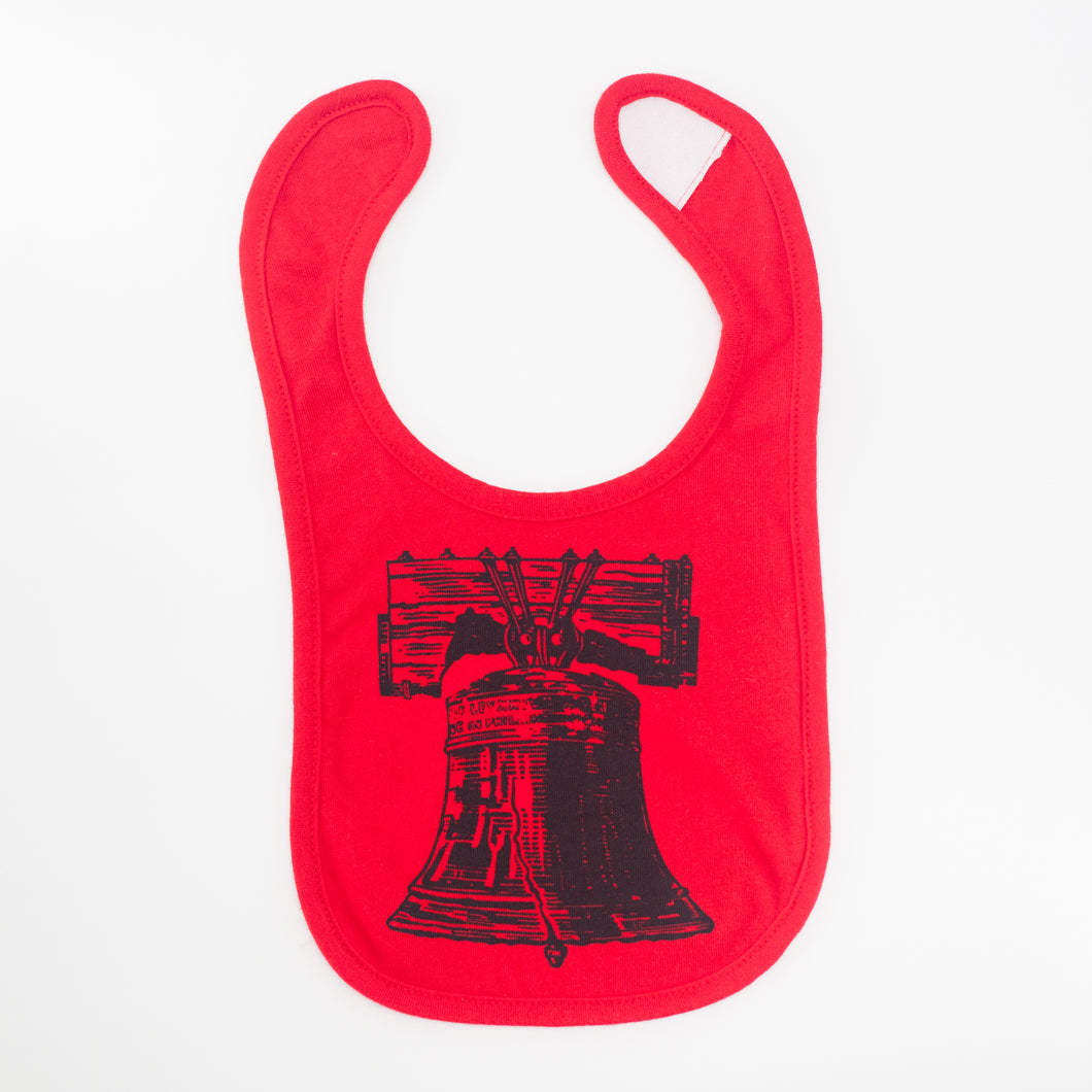 Liberty Bell baby bib, Philadelphia baby gift, gender neutral baby gift