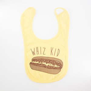 Philly cheesesteak baby bib, Philadelphia baby gift, Whiz Kid baby bib