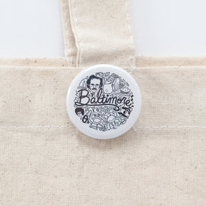 Baltimore pinback button by exit343design