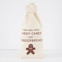 Christmas gift bag, wine gift bag, hostess gift idea, pairs well with gingerbread booze bag by exit343design