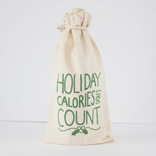 funny holiday gift idea, Christmas wine bag, holiday calories don't count booze bag by exit343design