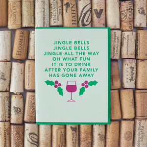 funny jingle bells parody greeting card by exit343design