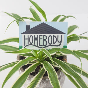 Homebody vinyl sticker, sticker for introverts, stay at home sticker