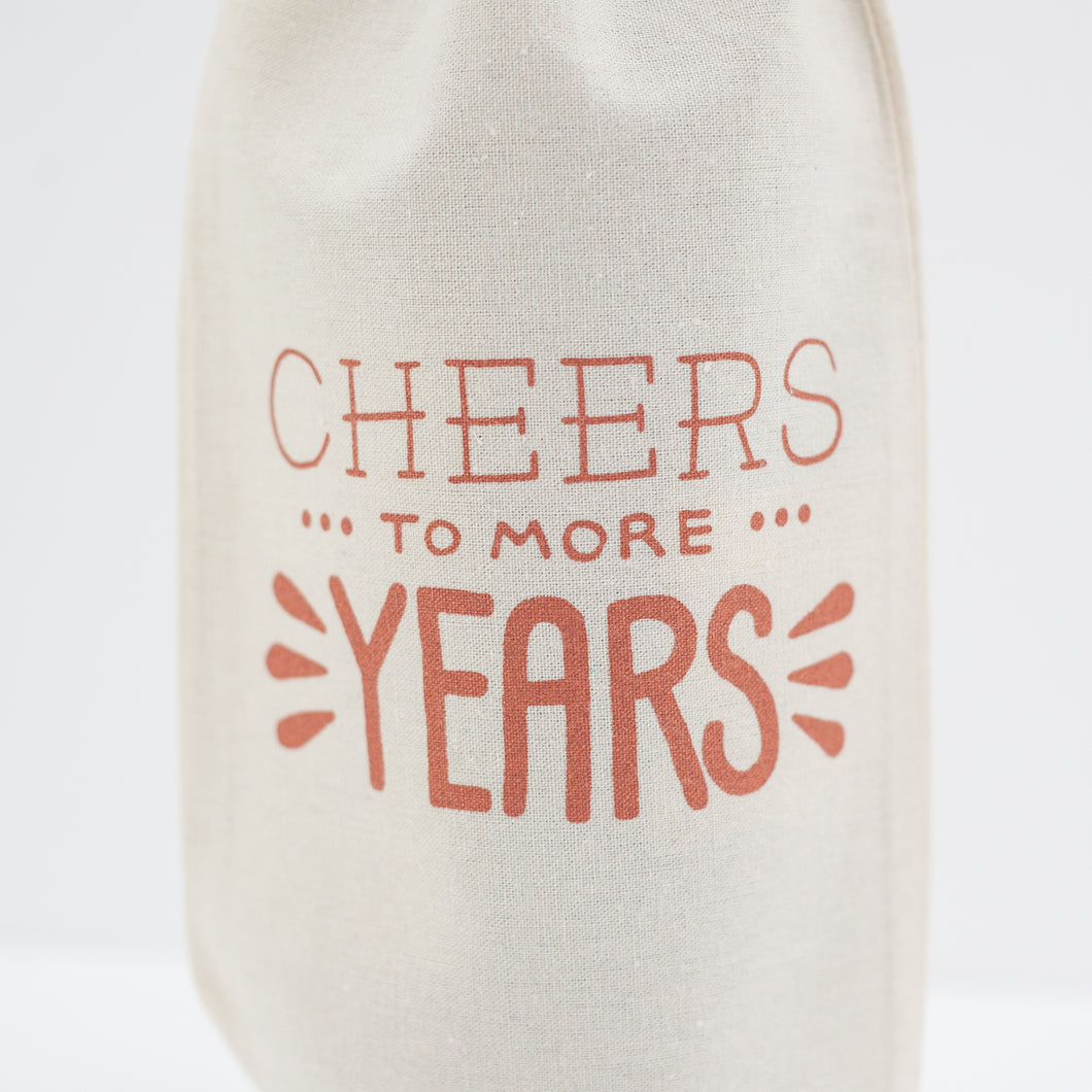 cheers to more years birthday gift bag, wine bag for easy gift giving by exit343design