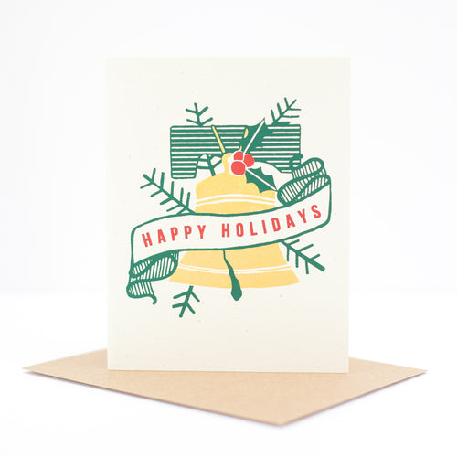 Philadelphia Christmas card, Liberty bell, happy holidays card