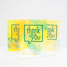 OOAK handprinted thank you card by exit343design