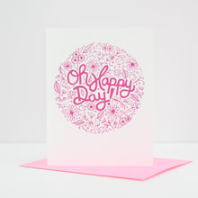 floral wedding card, oh happy day wedding card by exit343design