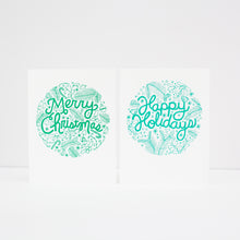 Happy Holidays card, Christmas card, hand-drawn holiday card