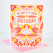 funny birthday card in folk art style by exit343design
