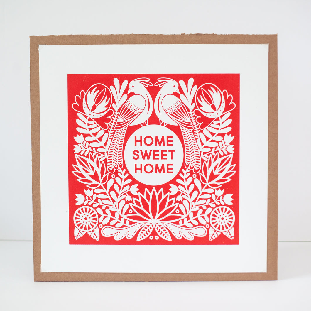 Home Sweet Home Fraktur inspired art print by exit343design