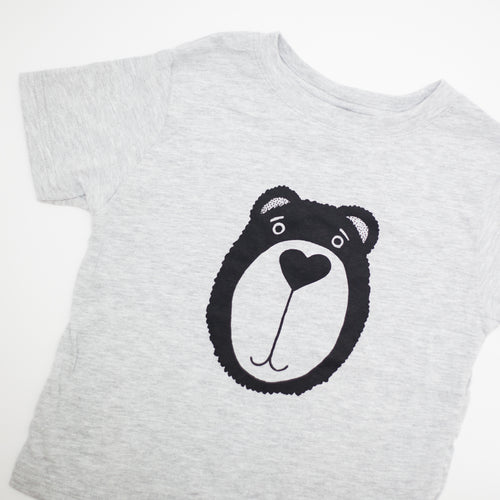 bear toddler tshirt, cute toddler shirt by exit343design