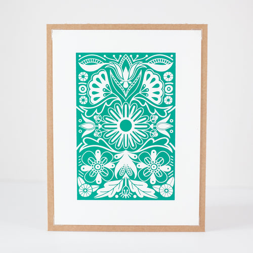 emerald green petite print for gallery wall by exit343design
