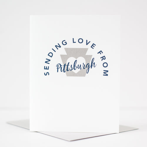 hello from Pittsburgh greeting card