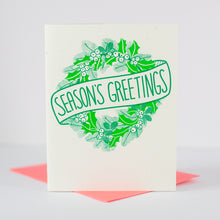 classic Christmas card with wreath by exit343design