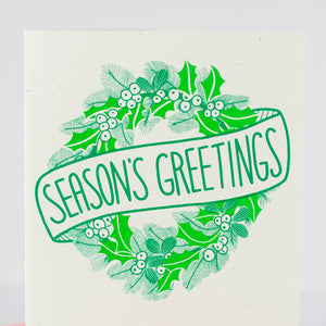 season's greetings classic holiday card by exit343design