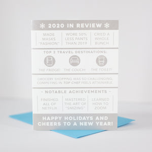 funny fake family newsletter Christmas card for 2020 by exit343design