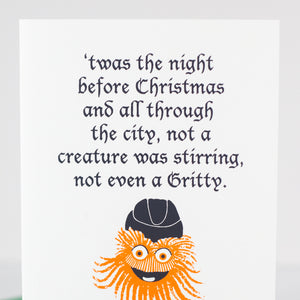 funny Gritty Christmas card for Philly by exit343design