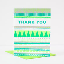 neon thank you card, geometric pattern thank you card, modern thank you card by exit343design