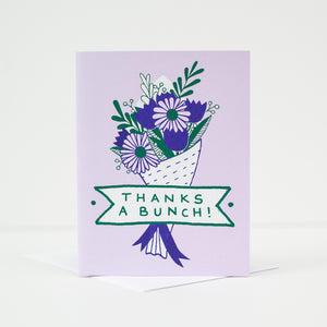 thanks a bunch floral thank you card, card for flower shop by exit343design
